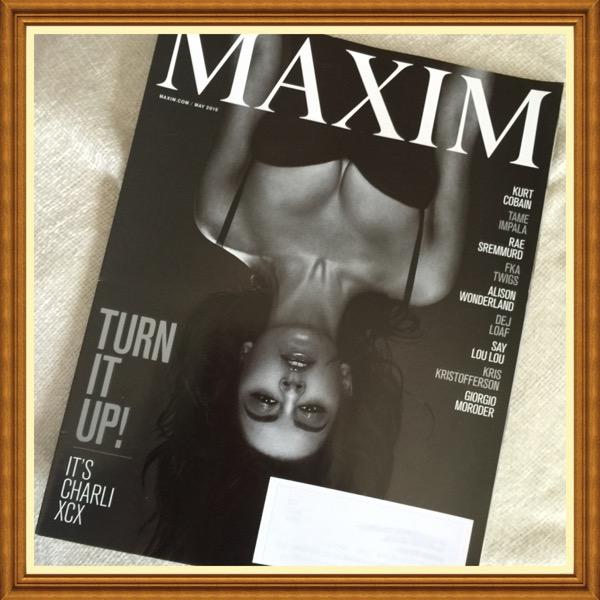 Maxim Magazine, May 2015, English Singer Charlie XCX, FKA Twigs, Kris Kristofferson, KurtCobain