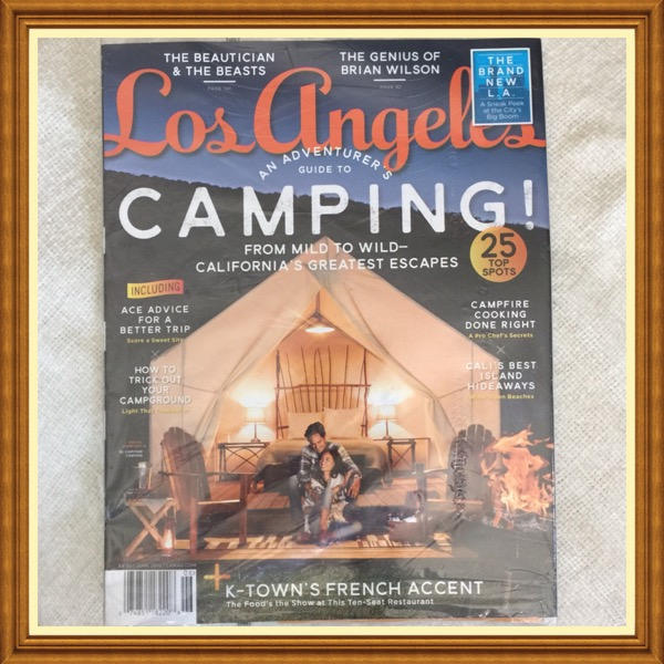Los Angeles LA Magazine, June 2015.  An Adventurer's Guide To Camping, 25 Top Spots. The Genius of Brian Wilson