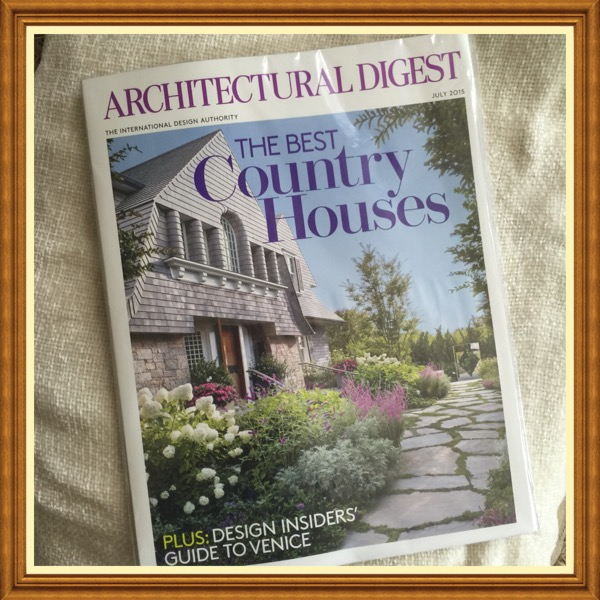 Architectural Digest Magazine, July 2015, The Best Country Houses Design Insiders' Guide toVenice