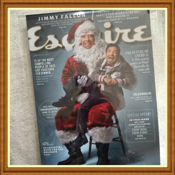 Esquire Magazine, December 2015, Jimmy Fallon Volkswagen,  Buy The Stock, If Not The Cars The Future of America  28 Essential Gifts for the Holidays #TT911-ESQ-DEC15