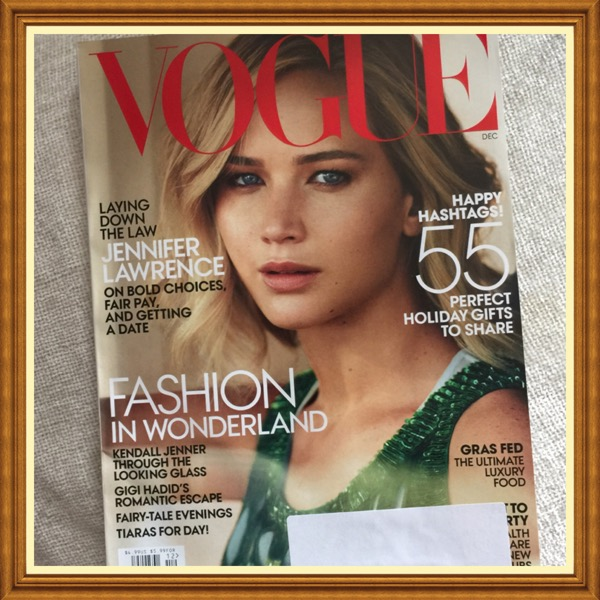 Vogue Magazine, December 2015, Jennifer Lawrence, Fashion in Wonderland