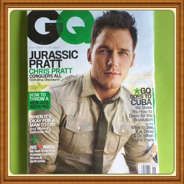 GQ Magazine, June 2015, Chris Pratt, Jurassic Park Cover