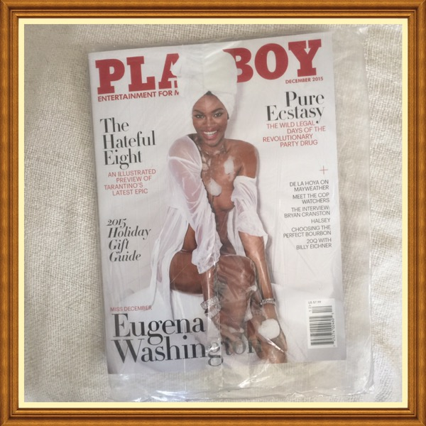 Playboy Magazine, December 2015, Eugena Washington, 2015 Holiday Gift Guide
