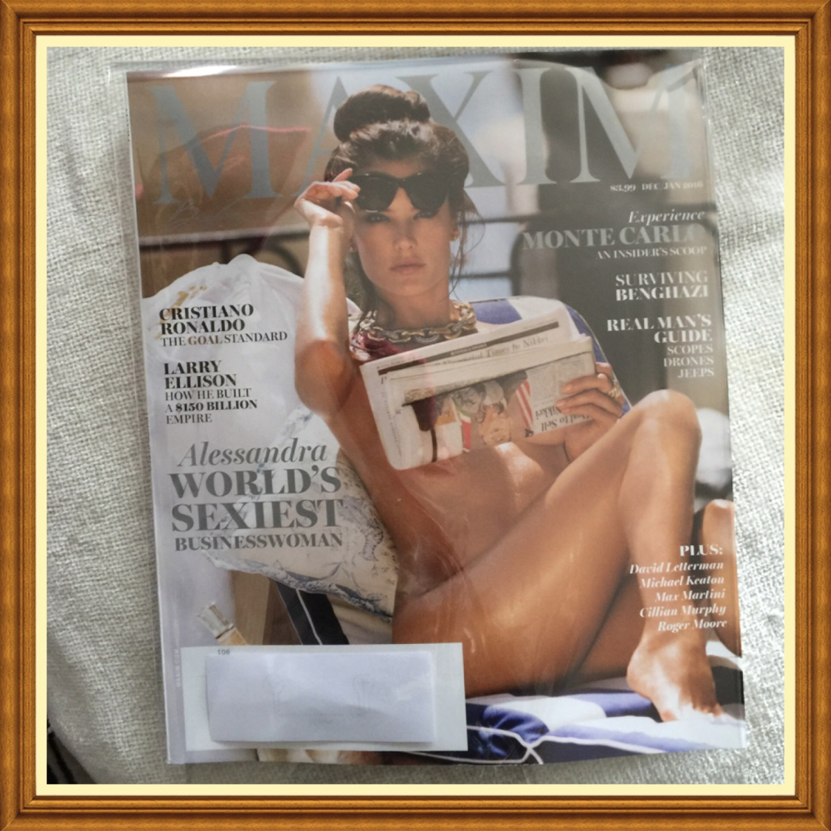 Maxim Magazine, December 2015, January 2016, Allesandra.  World's Sexiest Business Woman